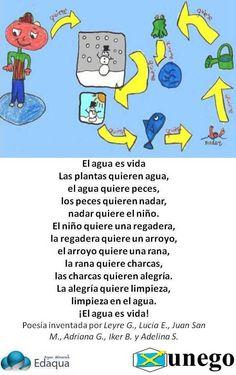 Bonito poema... Recuerda que sin el agua, no hay vida.Si puedes, proporciónate la mejor que puedas.