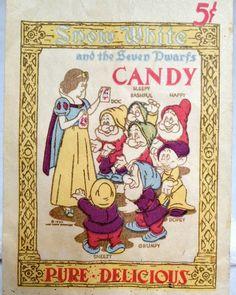 Vintage Snow White Candy Bag