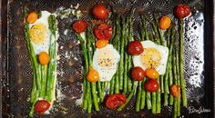 One-Pan Eggs With Asparagus and Tomatoes