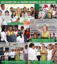 Actividades en municipios de Chiapas, ubicados en la Sierra Mariscal encabezados por la Lic.Leticia Coello
