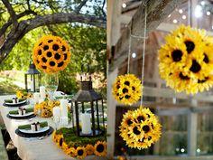 decoração de casamento amarelo e preto com girassóis - Pesquisa Google