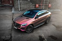 #MercedesBenz #GLE #Coupe Receives a Unique Wrap