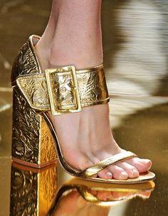 Fashion, Gold Heels