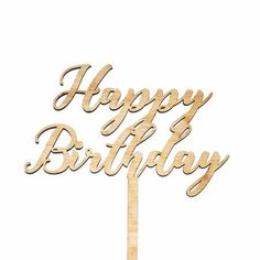 Happy Birthday Cake Topper Style 2