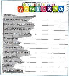 Ateliers ecriture : Des Ateliers a realiser par etapes successives... tout simplement SUPERBE!