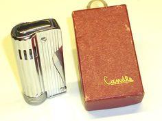 CANDLE POCKET SIDE SQUEEZE WICK LIGHTER WITH OVP - QUETSCHZÜNDER - 1950 -NICE Sammeln & Seltenes:Tabak, Feuerzeuge & Pfeifen:Feuerzeuge:Alt (vor 1970)