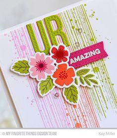 My Joyful Moments: MFT December Release Mini Modern Blooms Amazing card by Kay Miller.