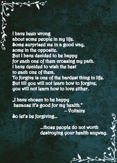 Let's be forgiving