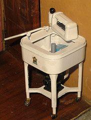 Antique Clothes Washer Machine.