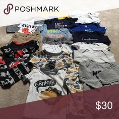 Baby boy bundle Long sleeve onesies, pj sets, 2 outfits. Good condition. Sizes start at 6 months- 18 months (variety) Other