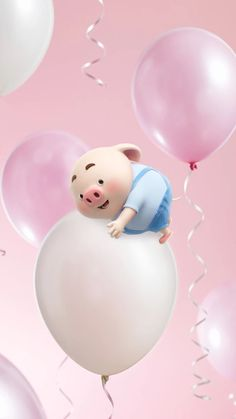 This Little Piggy, Little Pigs, Pig Wallpaper, Iphone Wallpaper, Party Mottos, Happy Birthday Wallpaper, Cute Piglets, Pig Illustration, Animated Dragon