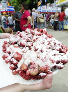 red velvet funnel cake.