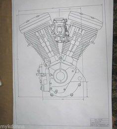 Image result for knucklehead engine blueprint #harleydavidsonknucklehead