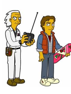 Back to the Future Simpsons Drawings, Simpsons Cartoon, Simpsons Characters, Walt Disney, Disney Art, The Simpsons Tv Show, Bttf, Marty Mcfly, Fantasy Comics