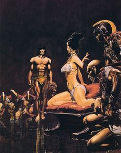 Tarzan Covers by Neal Adams and Boris Vallejo – Catspaw Dynamics Tarzan Book, Tarzan Movie, Comic Book Artists, Comic Books Art, Arte Do Pulp Fiction, Tarzan Of The Apes, Batman, Frank Frazetta, Conan The Barbarian