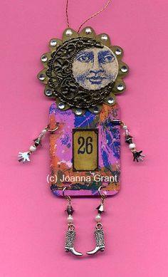 Joanna Grant - altered art doll made with recycled materials www.joannabananadesignoriginals.blogspot.com or www.facebook/JoannaGrantArt