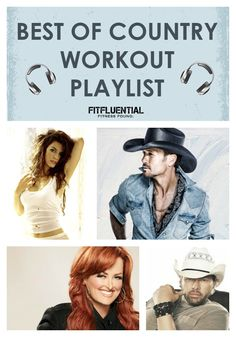 Best of Country Workout Playlist #fftunes #fitfluential