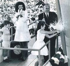 Jackie, Caroline & John Kennedy