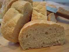 This makes two loaves of long baguette type French bread that has wonderful flavor and is so easy to make!