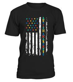 Autism Awareness Flag T Shirt