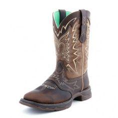 #CowboyCupidBeMine  Durango Flirt Brown Cowgirl Boots