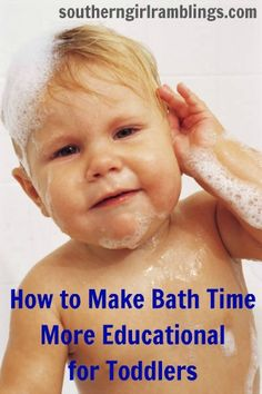 Tips for making bath time more educational for toddlers #parenting #moms
