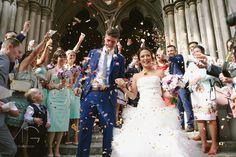 Martha & George Photography / London Wedding Photography / Confetti moment