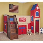 Found it at Wayfair - School House Junior Loft Bed with Firehouse Tent