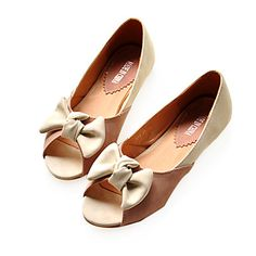 Leatherette Upper Flat Heel Flats With Bowknot Casual/ Honeymoon Shoes.More Colors Available  USD $ 19.99 |Fashion Design Shoes|
