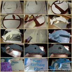 Dolphin Cake (Easy Step by Step from 2 round cakes)