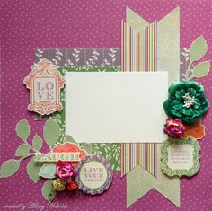 Layout Kit (1) with Kaisercraft Flora Delight, created by Hilary Nicholas