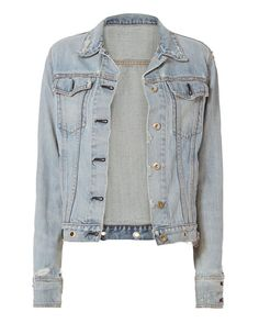 RAG & BONE Avenida Studded Denim Jacket. #ragbone #cloth #jacket
