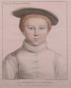 FRANCESCO BARTOLOZZI (Italian, 1727-1815). EDWARD PRINCE OF WALES, from the original drawing by Hans Holbein. Color engraving.
