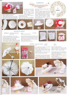 tutoriales sombrero, bolso y sombrilla