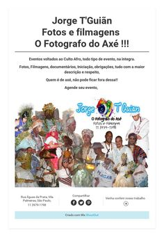 Jorge T'GuiãnFotos e filmagensO Fotografo do Axé !!!