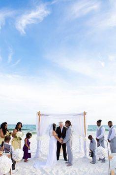 beach wedding ceremony photos