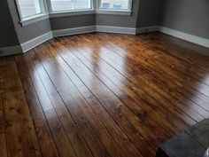 Our 130 year old heartwood pine floors stained with Minwax Provincial stain and semigloss poly. Staining Pine Wood, Pine Wood Flooring, Heart Pine Flooring, Stain On Pine, Farmhouse Flooring, Pine Floors, Hardwood Floor Stain Colors, Minwax Stain Colors, Hardwood Floors