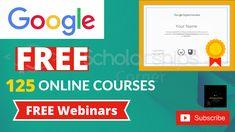 Google Free Courses | Google Free Webinars  Get Free Certificate for Digital Marketing Course  #freecourses #google #scholarshipscorner Free Courses, Online Courses, Free Certificates, Digital Marketing, Google