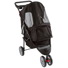 Black 3-Wheel Trail Terrain Pet Stroller Jogger ** Find out more about the great product at the image link.