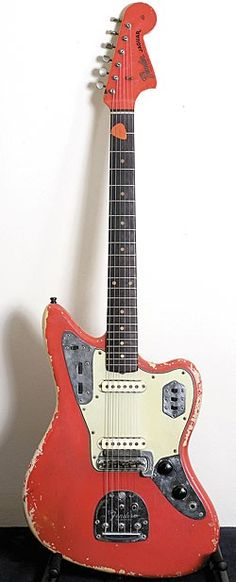 John Frusciante Collection's - This 1962 Fender Jaguar in Fiesta Red is the guitar Frusicante has owned longer than any other. *–*