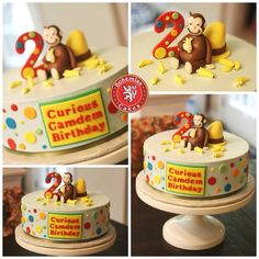 Curious George Cakes, Curious George Party, Curious George Birthday, First Birthday Parties, It's Your Birthday, Boy Birthday, First Birthdays, Birthday Ideas, Monkey Decorations