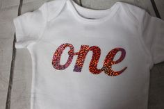 Birthday Girl ONESIE - holographic ONE - First birthday outfit - Bodysuit, ONE word pink purple gold coral by TulleVogue on Etsy