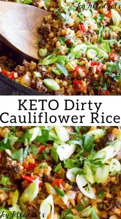 #keto #cauliflower #cauliflowerice This Dirty Keto Cauliflower Rice recipe is a keto spin on the classic Creole dish. Simple, quick, easy and so delicious, this low carb, one pan wonder can be on the table in less than 30 minutes!