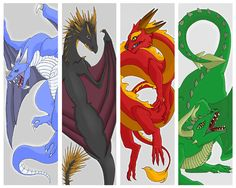 My idea was to make bookmarks of the dragons in theTriwizard…