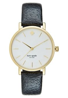 kate spade new york Watch - schwarz for Free delivery for orders over Kate Spade, New York, Watches, Leather, Accessories, Black, New York City, Wristwatches, Clock