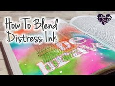 Week 1 of 52, in the original Bible Art Journaling Challenge. Learn to blend Distress Ink on thin Bible paper! ————— I N F O & S U P P L I E S ——— I N F O Bl...