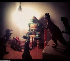 The kind of parent I want to be: Awesome Parents Pose Dinosaur Toys At Night So Kids Think They Come To Life While They're Sleeping Dino Toys, Dinosaur Toys, Kids Dinosaurs, Lost In Thought, Sleeping Through The Night, Baby Center, Kids Sleep, Tumi, Months In A Year