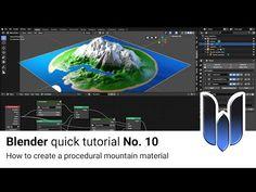 Blender Quick Tutorial No. 10 Dynamic Mountain/Island Material BlenderNation - Blender - Ideas of Blender Blender 3d, Blender Models, Green Detox Smoothie, Smoothie Cleanse, Green Smoothies, Juice Cleanse, Vfx Tutorial, Cinema 4d Tutorial, Create Animation