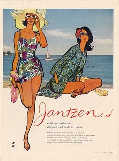 Gruau pour Jantzen 1959. Love the bathing suits from my teens.