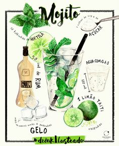Drink Ilustrado #1 | Mojito on Behance